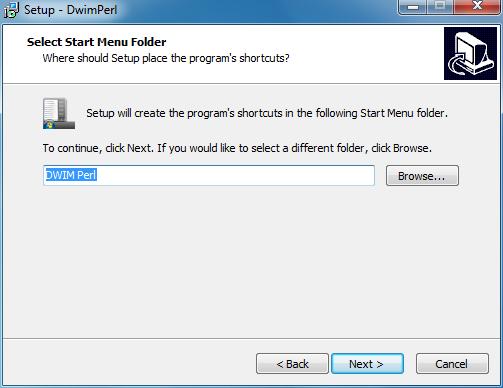 Create start menu folder