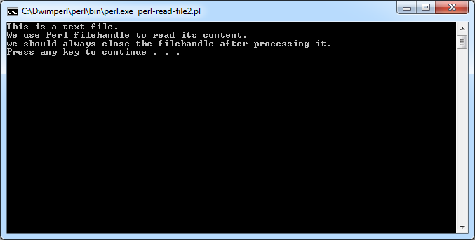 Perl Read File