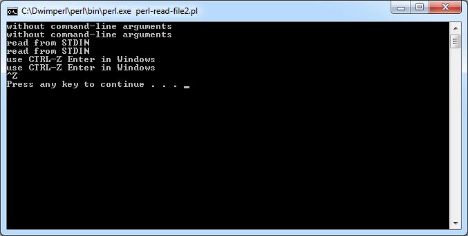Perl Read from STDIN using Diamon Operator