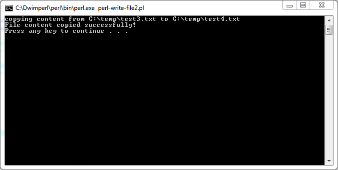 Perl Write to File